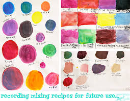 painting mixing colors to make colors ideas experimenting with