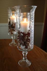 i made these hurricane ls from glass candleholders and vases