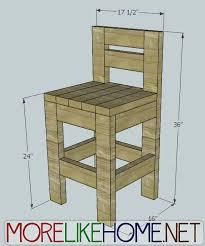 more like home day 23 build a chunky bar stool