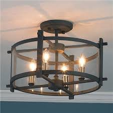 industrial style ceiling lights clearly modern semi flush mount ceiling lights clear curved glass