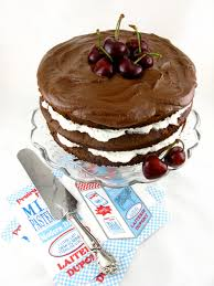 chocolate truffle layer cake with cherries entries general