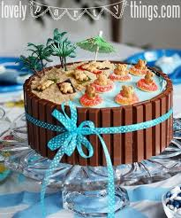 Tropical Theme Birthday Cake - totally going to try this fun cooking pinterest cake