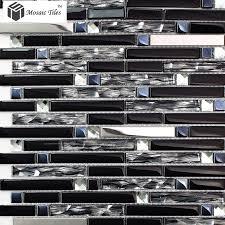 Stainless Steel Mosaic Tile Backsplash by Tst Glass Metal Tile Silver Stainless Steel Porcelain Base Diamond