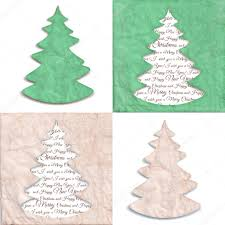 texture of crumpled craft paper with a stylized shape of christmas