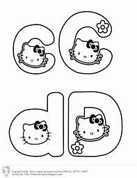 hello kitty alphabet coloring pagesfree coloring pages for kids