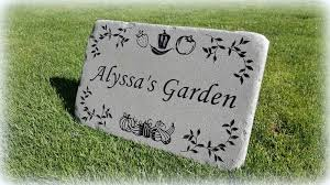 personalized garden rocks and stepping stones free shipping