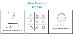 printable games for kids printouts for different games