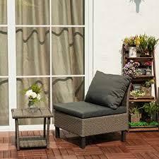 canap lounge miadomodo canapé lounge gris en résine tressée avec coussins