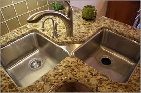 Kitchen  Cheerful Square Undermount Kitchen Sink Lapoup N Square - Corner undermount kitchen sink