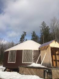 yurt and land in central vt tiny house listings