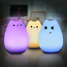 usb cat night light elfeland multi color cat l with remote children cute kitty