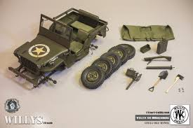 wwii jeep in action gt 015 004 mvwii go truck 1 6 scale go truck 1 6 1 4 ton us