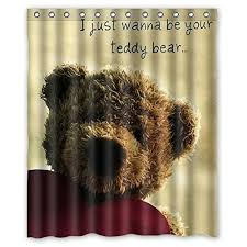 Teddy Shower Curtain Shower Curtains Kritters In The Mailbox Shower Curtain