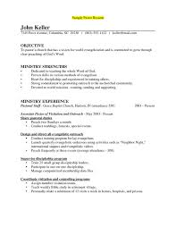 Community Outreach Resume Sample pastor resume sample experience resumes