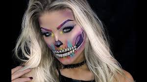 Halloween Makeup Skull by Halloween Makeup Tutorial Colorful Skull Youtube