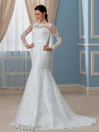 Long Sleeve Lace Wedding Dress Open Back Wedding Dresses With Lace Sleeves And Open Back Naf Dresses
