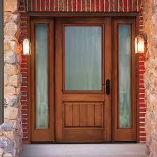 Fiberglass Exterior Doors With Sidelights Thermatru Classic Craft Rustic Fiberglass Entry Door With