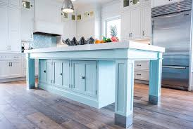 turquoise kitchen island coastal white kitchen with turquoise island home bunch interior
