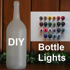 how to make a wine bottle l bottle light kit diy l decorate frosted glass arts and crafts