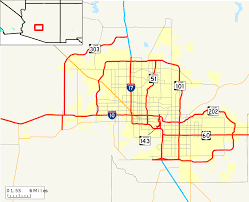 University Of Arizona Map by Roads And Freeways In Metropolitan Phoenix Wikipedia