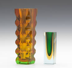 Italian Glass Vases Two Modern Italian Glass Vases 09 08 12 Sold 138