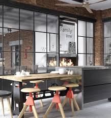 Industrial Style Kitchen Designs Contemporary Kitchen Design And Living Area In Loft Style