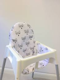 assise chaise haute coussin renards pour chaise haute antilop de ikea puckdaddy