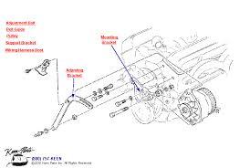 corvette alternator bracket 1953 2017 corvette small block alternator parts parts