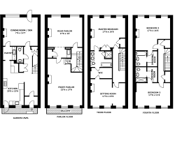 House Plan With Front Kitchen New York Brownstone House Plan House Plans Pinterest