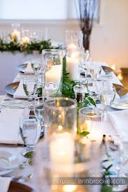 wedding flowers calgary table and guest centrepiece garlands of italian ruscus