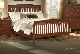 cherry oak wood bed frame using white bed sheet combined with