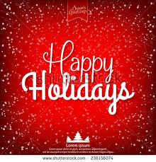 happy holidays vector illustration design stock vector