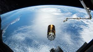 Space station off the earth for the earth
