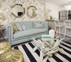 Tufted Sofa Living Room by Sofa Chesterfield Style Living Room Eclectic With Cowhide Rug