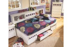 Twin Bed With Storage And Bookcase Headboard by Zayley Twin Bookcase Bed Ashley Furniture Homestore