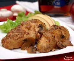 poulet cuisine escalope de poulet à la normande chicken normandy curious cuisiniere