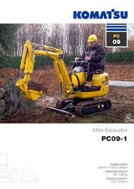mini excavator pc09 1 komatsu europe pdf catalogue