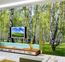 Sho Natur 3d nature landscape birch trees forest photo wallpaper murals for