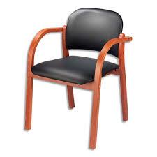 siege visiteur siege fauteuil accueil visiteur bois elva similicuir noir v4 61999