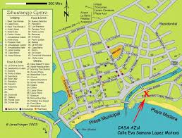 zihuatanejo map casa azul apartments zihuatanejo