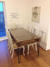 How To Build Dining Room Table Dining Room Table Made Of Salvage Pallet Hometalk