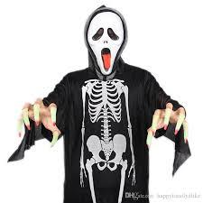 ghost costume 2017 80cm ribs ghost costumes adults bones black