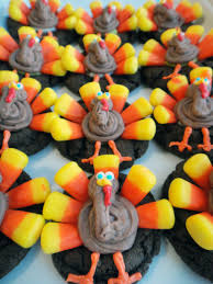 thanksgiving recipes corn worth pinning candy corn turkey cookies