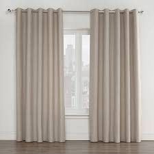 Eclipse Brand Curtains Legacy Mink Luxury Lined Eyelet Curtains Pair Julian Charles