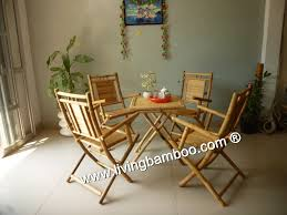 Bamboo Dining Table Set Antwerp Dining Table