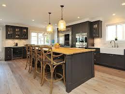 butcher block kitchen island breakfast bar pendant lighting island kitchen farmhouse with bar stool