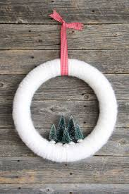 winter wonderland bottle brush yarn wreath yarn wreaths