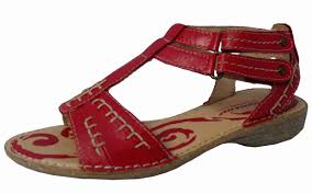 ladies soft red leather sandals reduced to 24