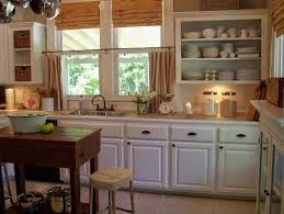 Red Kitchen With White Cabinets Rustic Red Kitchen Cabinets Zamp Co
