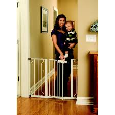 Child Gate Stairs by Regalo Easy Step Extra Wide Metal Walk Through Safety Gate